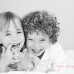Photographer in Toronto Negin Sairafi two children portrait