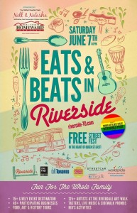 riverside to eats and beats