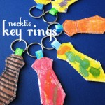 Father's Day Necktie Key Rings